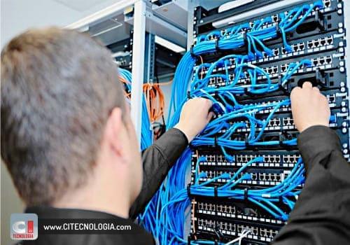 instalação cabeamento rede montagem rack são mateus